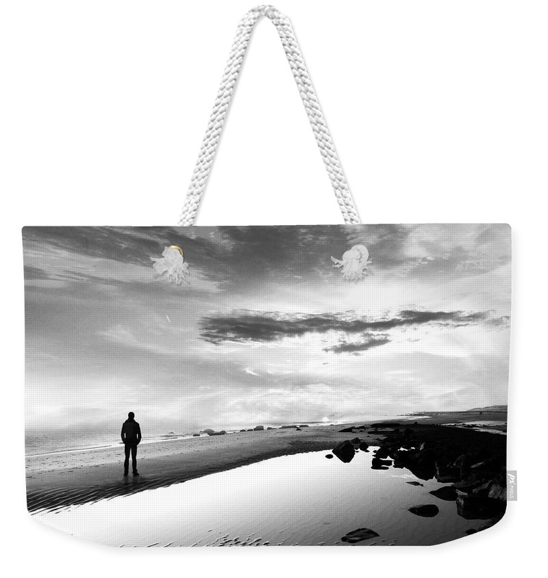 B&w Weekender Tote Bag featuring the photograph Per Sempre by Jacky Gerritsen