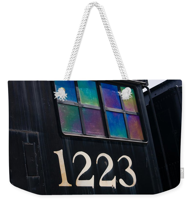 3scape Weekender Tote Bag featuring the photograph Pere Marquette Locomotive 1223 by Adam Romanowicz