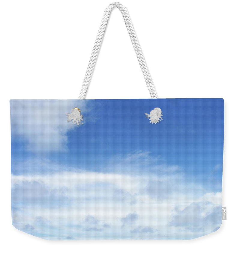 Blue Weekender Tote Bag featuring the photograph Perfect Day by JAMART Photography
