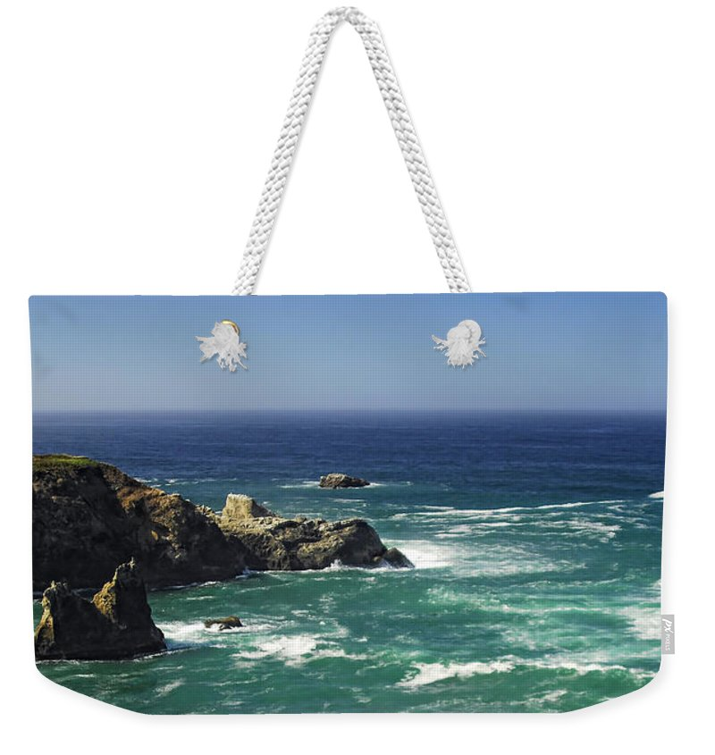 Ocean Weekender Tote Bag featuring the photograph Perfect Mix Of Blue And Green by Donna Blackhall