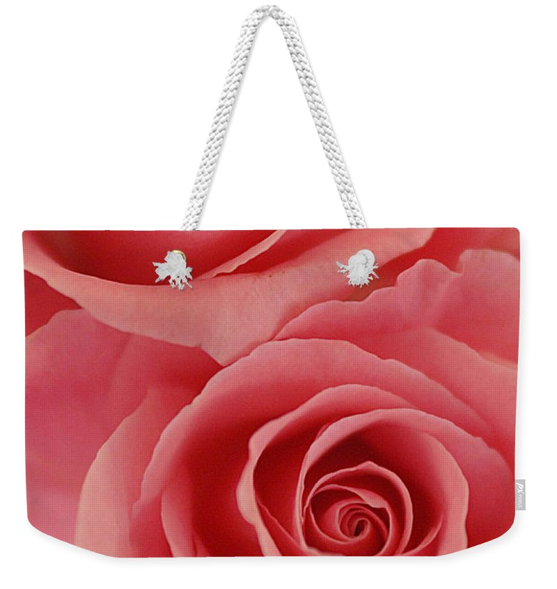Rose Weekender Tote Bag featuring the photograph Perfect Pink Roses by Jill Reger