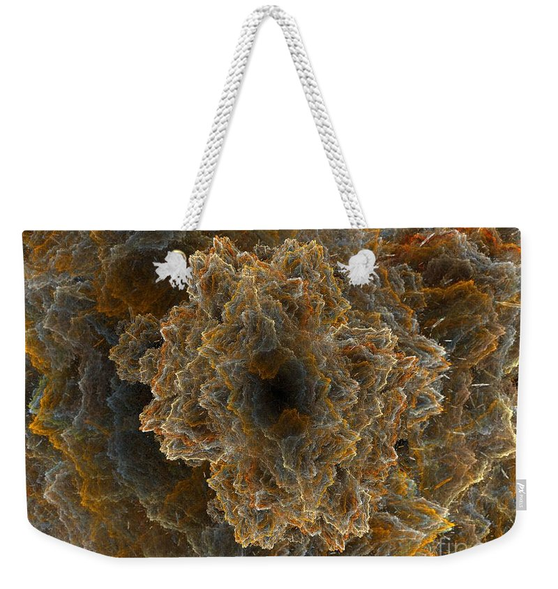 Fractal Weekender Tote Bag featuring the digital art Perfect Storm by Ron Bissett