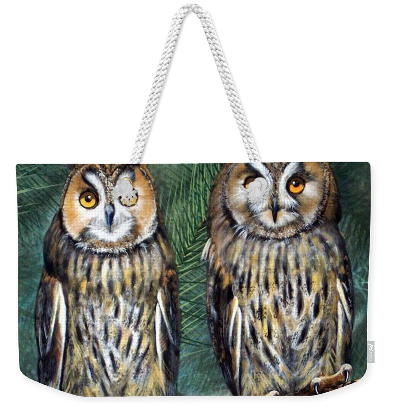 Wildlife Weekender Tote Bag featuring the painting Perfect Strangers by Frank Wilson