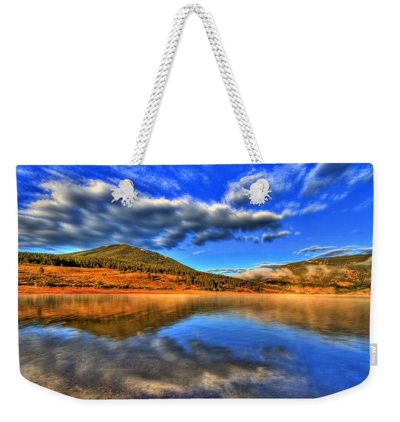 Lake Weekender Tote Bag featuring the photograph Perfection by Scott Mahon
