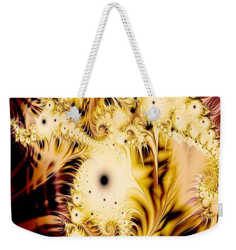 Perferated Weekender Tote Bag featuring the digital art Perferated Fractal by Ron Bissett