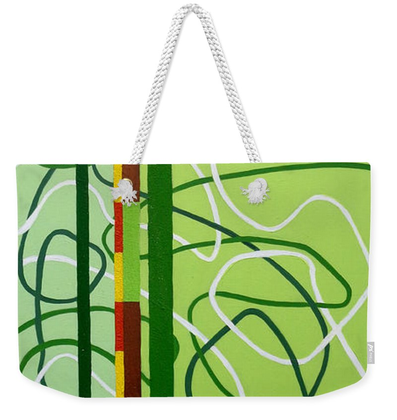 Painting Weekender Tote Bag featuring the painting Peridot Party by Tara Hutton