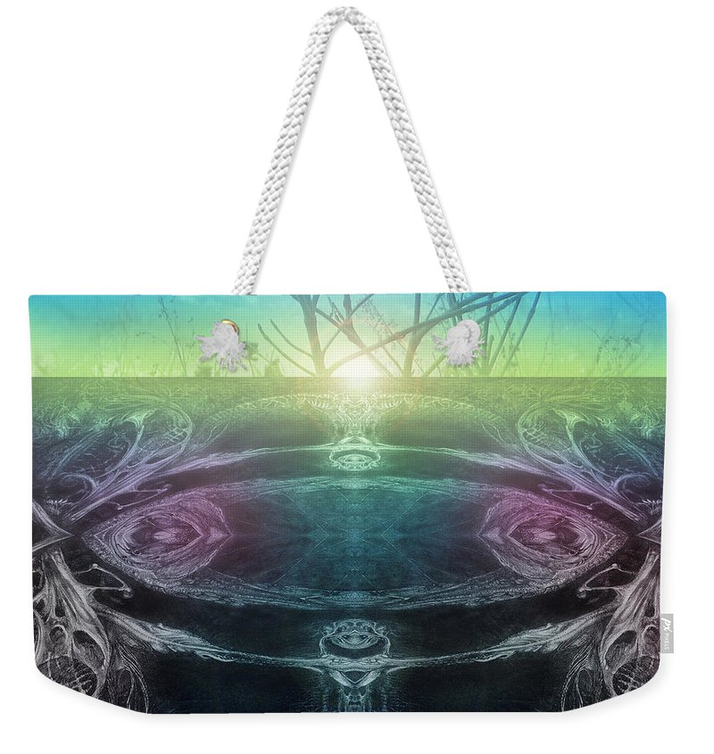 Digital Weekender Tote Bag featuring the digital art Perpetual Motion Landscape by Otto Rapp