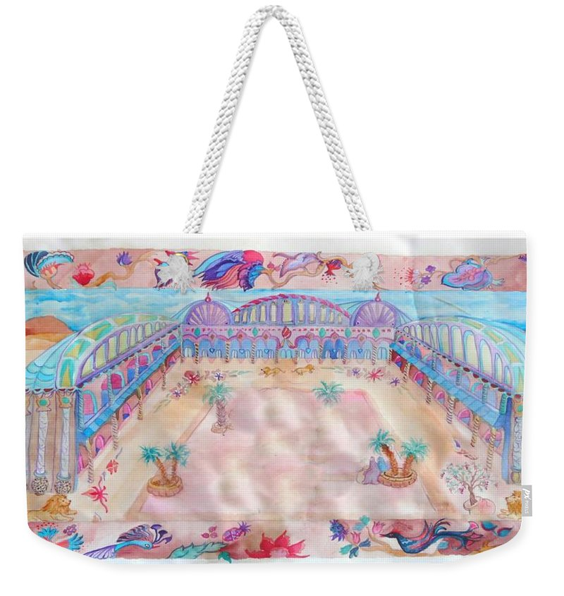 Judaica Art Weekender Tote Bag featuring the painting Persian Palace by Sandrine Kespi