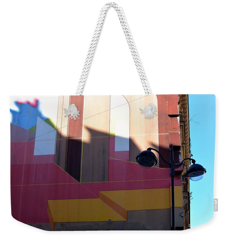 Drawing On A Wall Weekender Tote Bag featuring the photograph Perspective And Shadow by Valerie Dauce