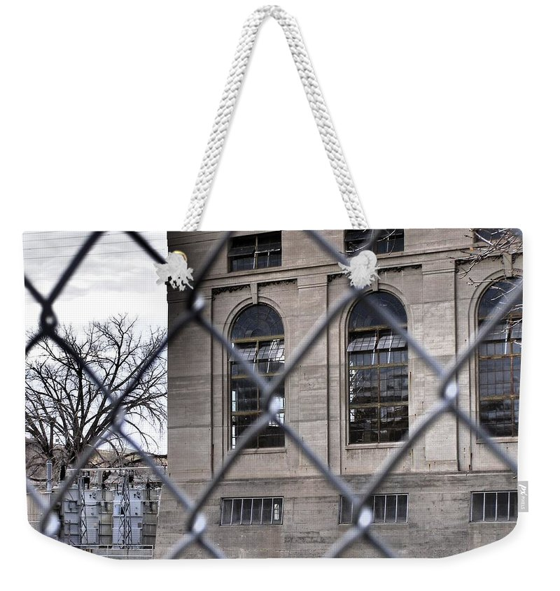 Black Eagle Dam Weekender Tote Bag featuring the photograph Perspective by Susan Kinney