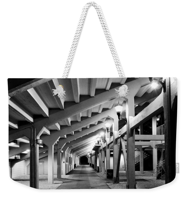 Tunnel Weekender Tote Bag featuring the photograph Perspective V by Greg Fortier