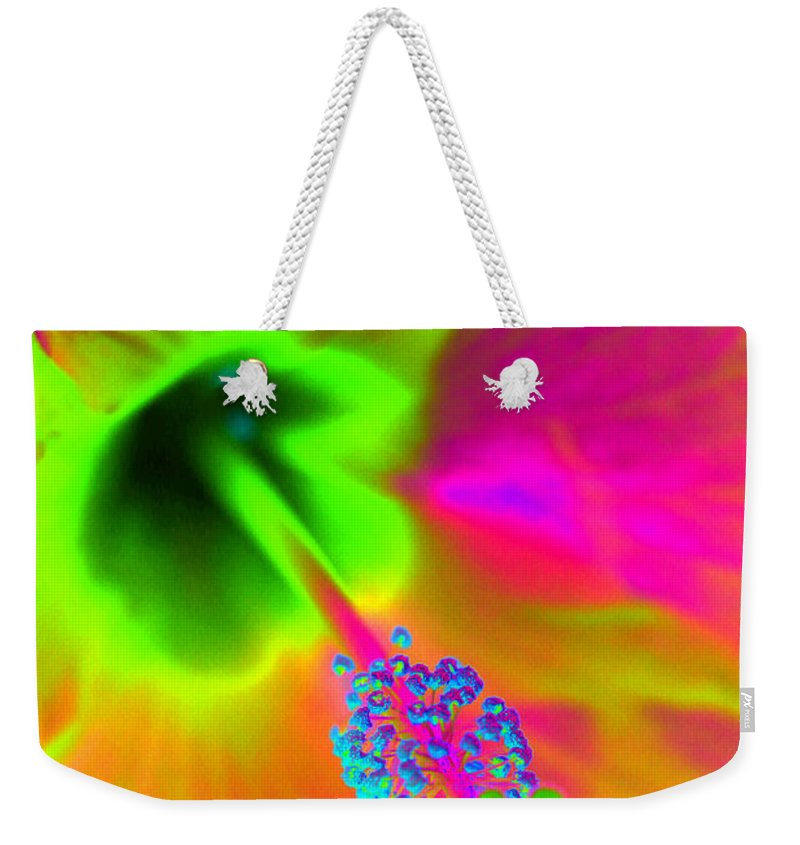 Hibiscus Weekender Tote Bag featuring the photograph Petal Power - Hibiscus - Photopower 3260 by Pamela Critchlow