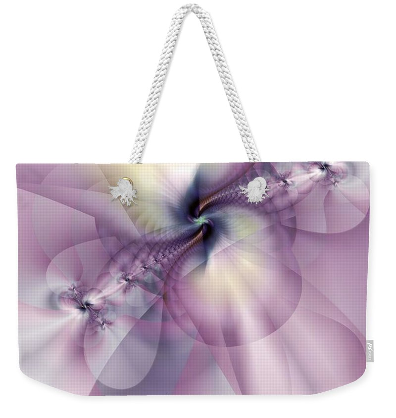 Abstract Weekender Tote Bag featuring the digital art Petals Of Pulchritude by Casey Kotas