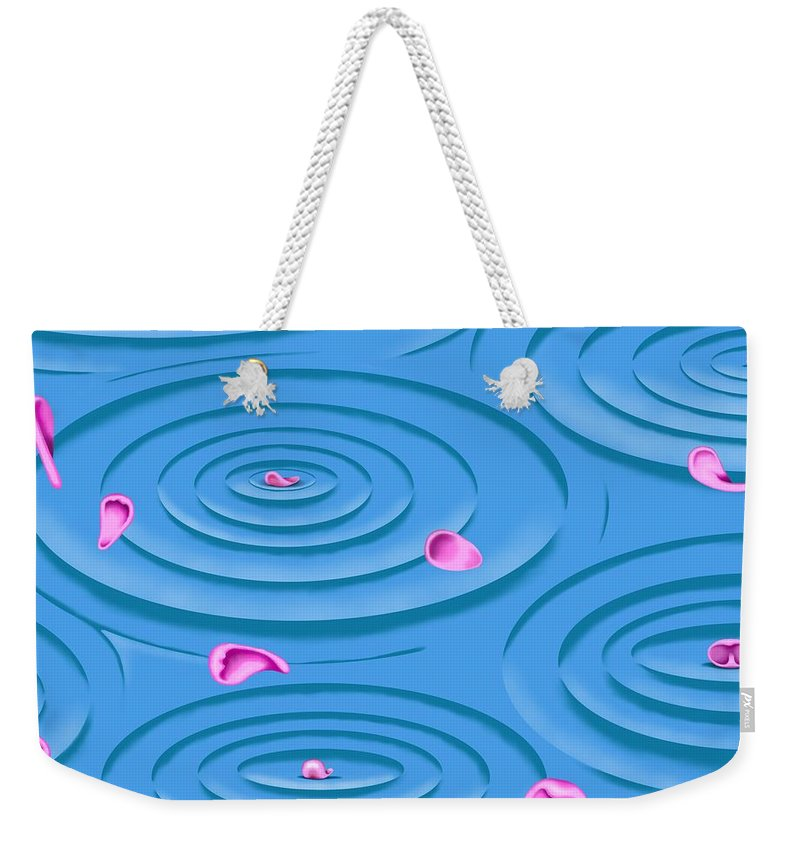 Surrealism Weekender Tote Bag featuring the digital art Petals on Water I by Robert Morin