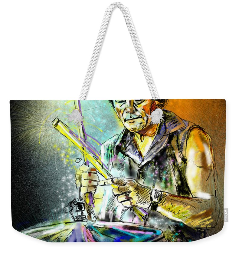 Pete Phipps Portrait Weekender Tote Bag featuring the digital art Pete Phipps by Miki De Goodaboom