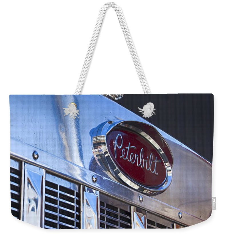 Peterbilt Weekender Tote Bag featuring the photograph Peterbilt Angry Duck by Theresa Tahara