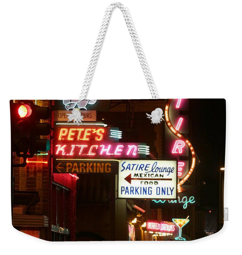 Pete's Weekender Tote Bag featuring the photograph Pete's Kitchen by Jeffery Ball