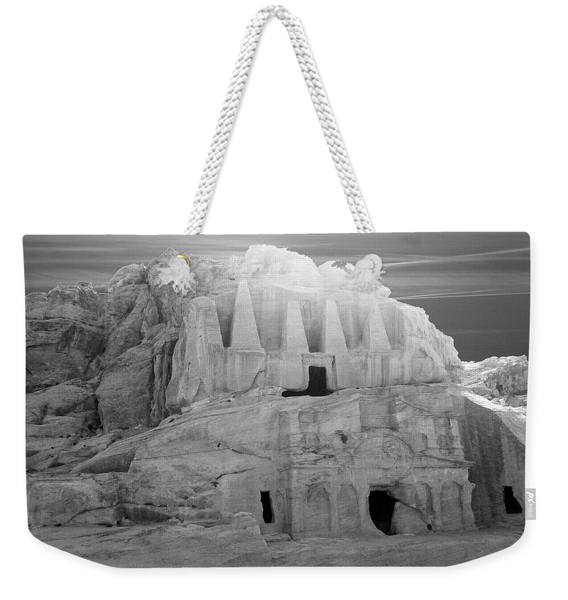 Petra Weekender Tote Bag featuring the photograph Petra - Jordan by Munir Alawi