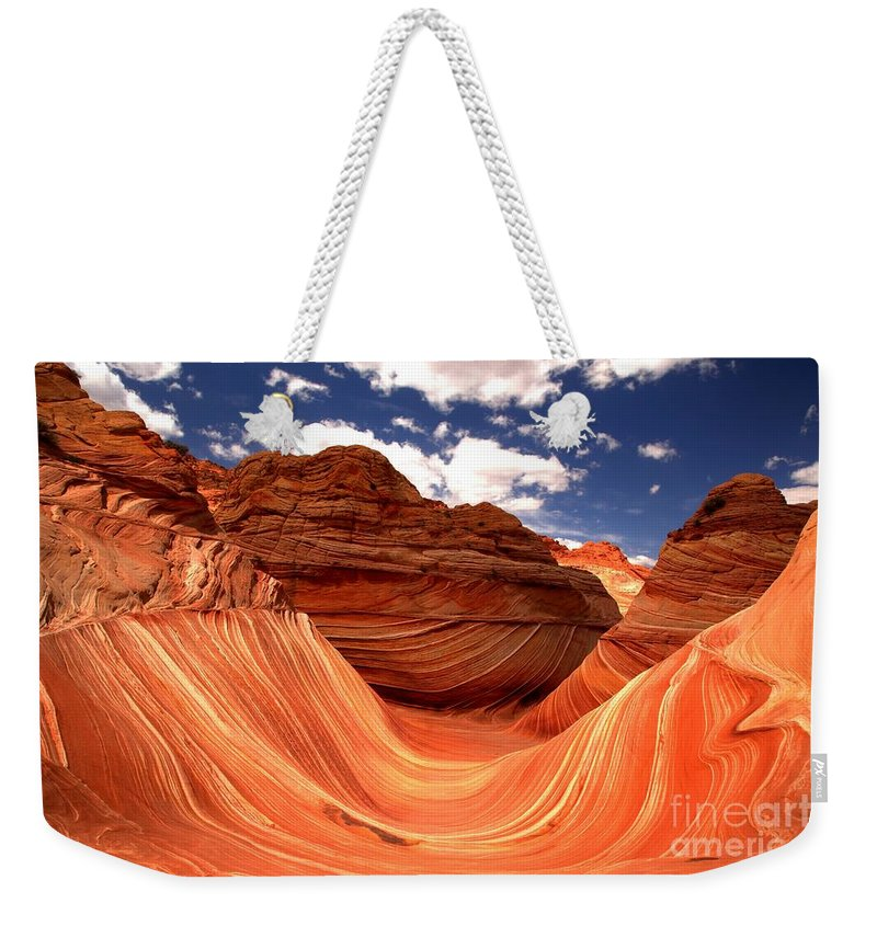 The Wave Weekender Tote Bag featuring the photograph Petrified Dunes Landscape by Adam Jewell