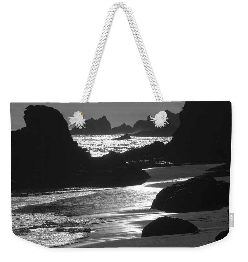 Silhouette Weekender Tote Bag featuring the photograph Pfeiffer Beach Sp 8192 by Bob Neiman