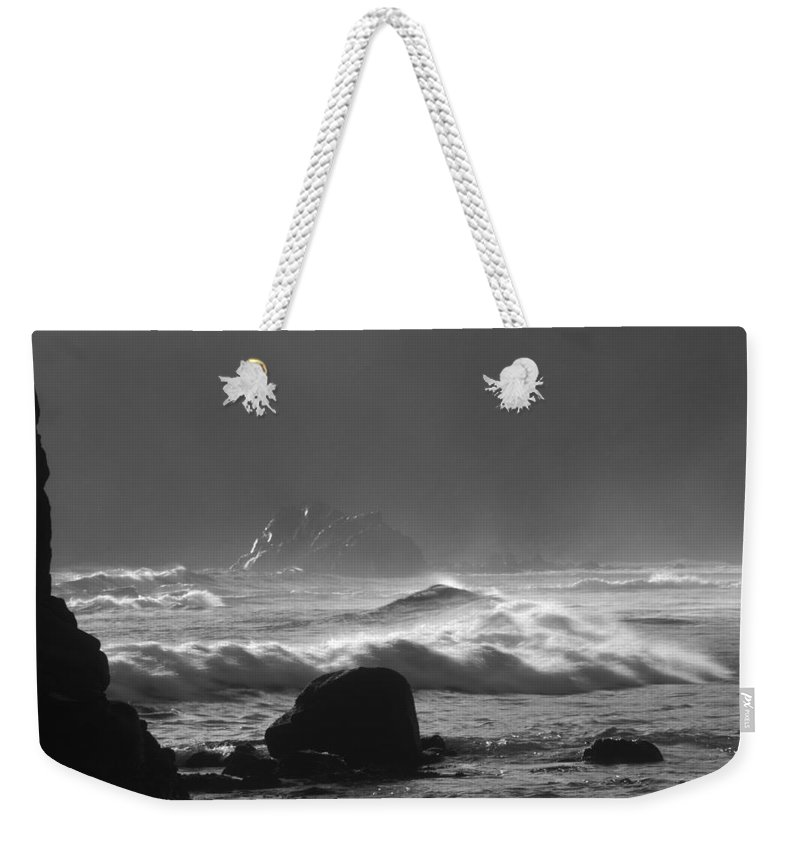 Silhouette Weekender Tote Bag featuring the photograph Pfeiffer Beach Sp 8245 by Bob Neiman