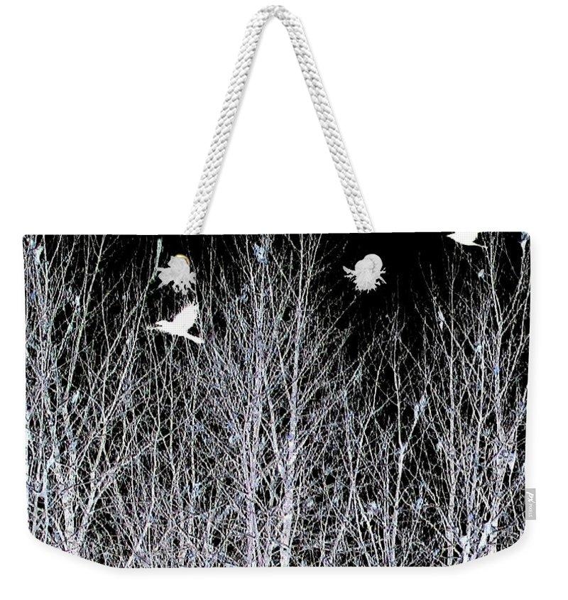 Phantom Birds Weekender Tote Bag featuring the digital art Phantom Birds by Will Borden