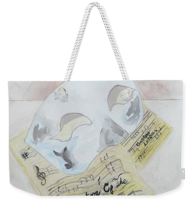 Phantom Of The Opera Weekender Tote Bag featuring the painting Phantom's Mask by Deborah R Minter