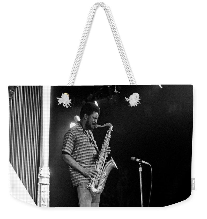 Pharoah Sanders Weekender Tote Bag featuring the photograph Pharoah Sanders 5 by Lee Santa