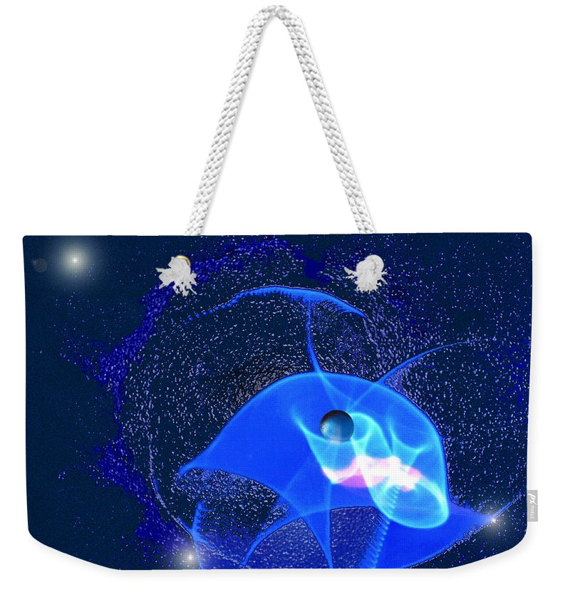 Space Weekender Tote Bag featuring the digital art Phenomenon by Steve Karol
