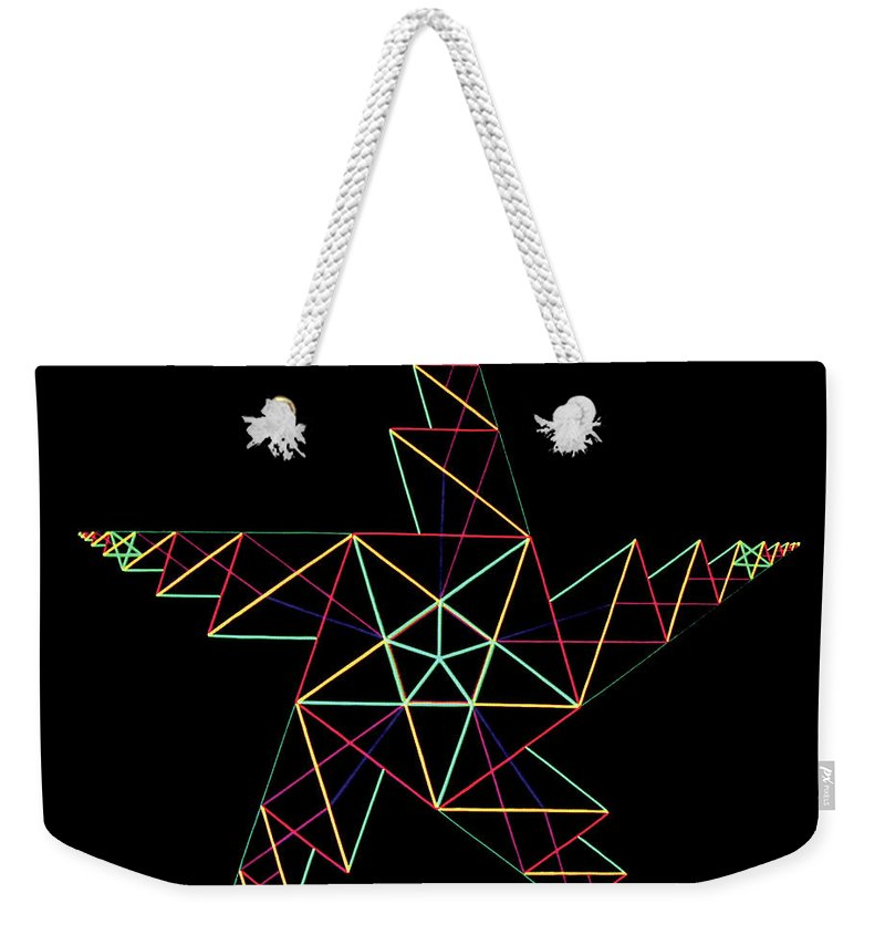 3d Weekender Tote Bag featuring the painting Phi by Heather Crowther