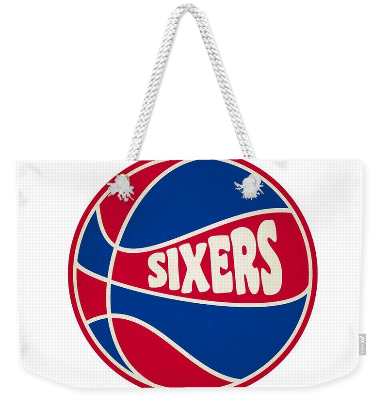 76ers Weekender Tote Bag featuring the photograph Philadelphia 76ers Retro Shirt by Joe Hamilton