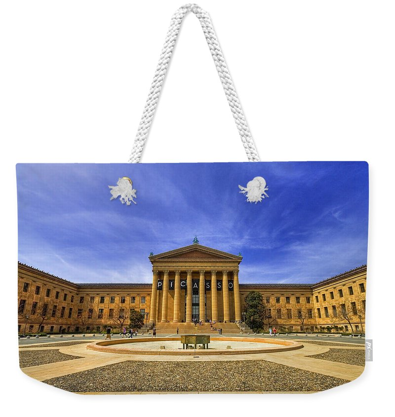 Architecture Weekender Tote Bag featuring the photograph Philadelphia Art Museum by Evelina Kremsdorf