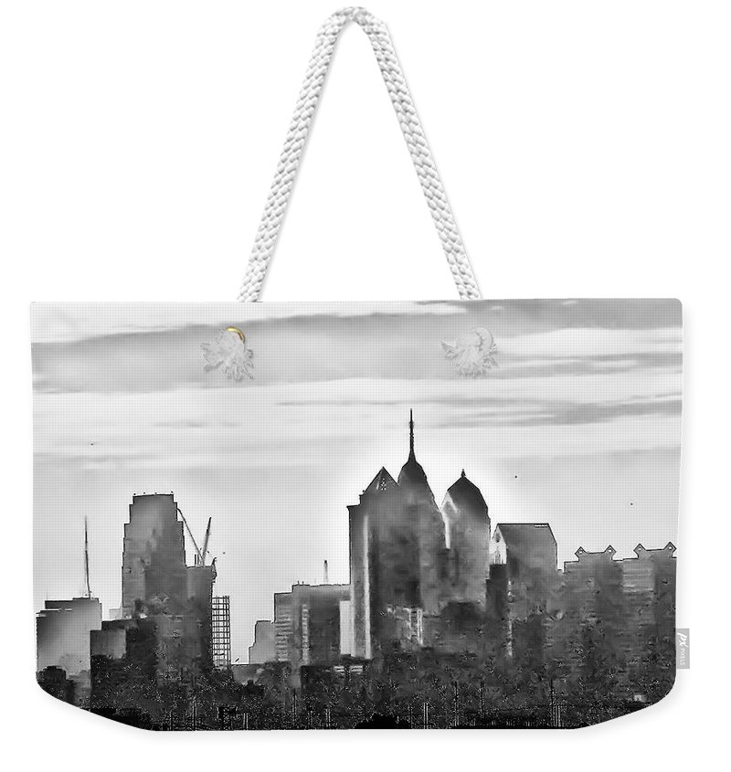 Philadelphia Weekender Tote Bag featuring the photograph Philadelphia by Bill Cannon