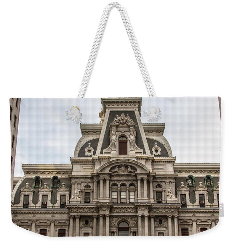 Philadelphia Weekender Tote Bag featuring the photograph Philadelphia City Hall by Robert J Caputo