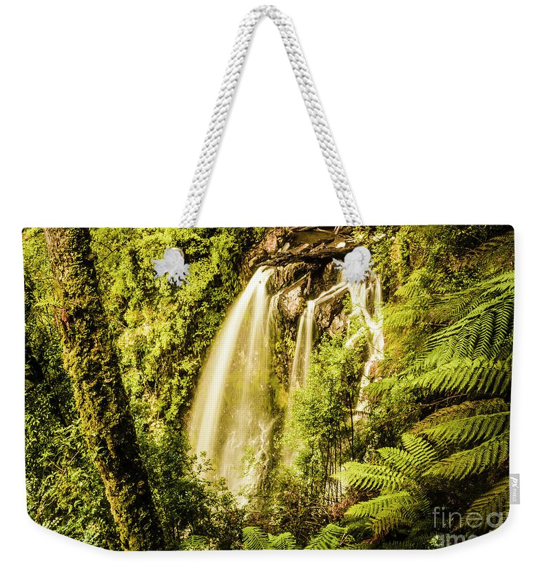 Falls Weekender Tote Bag featuring the photograph Philosopher Falls, Western Tasmania by Jorgo Photography - Wall Art Gallery