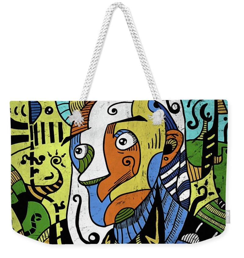 Philosopher Weekender Tote Bag featuring the digital art Philosopher by Sotuland Art