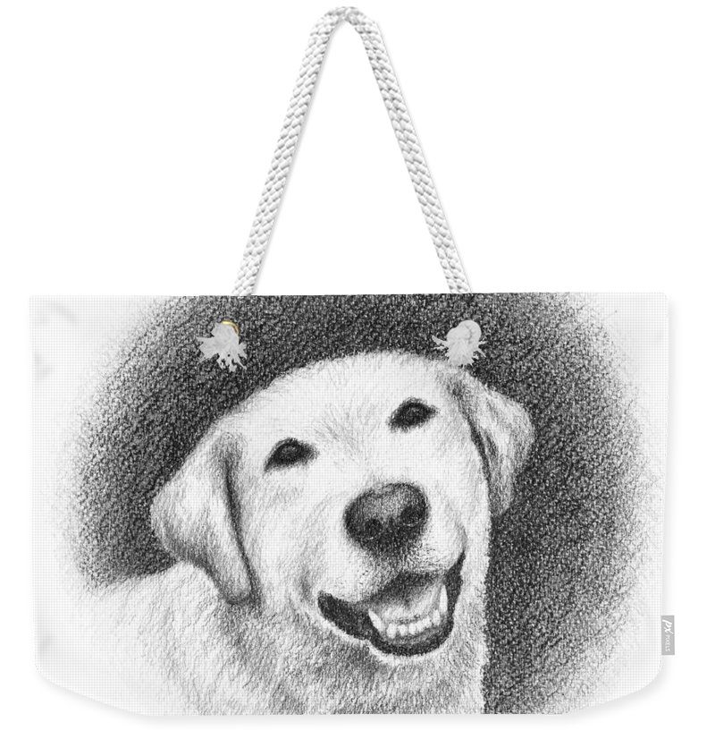 Phoebe Weekender Tote Bag featuring the drawing Phoebe by Conor O'Brien