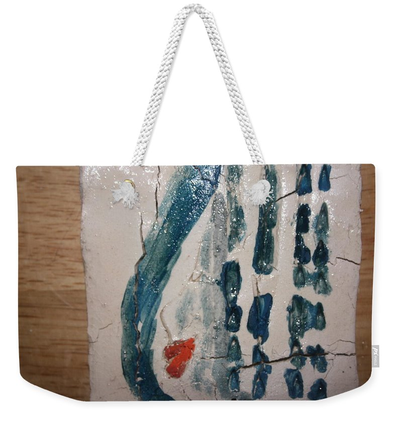 Jesus Weekender Tote Bag featuring the ceramic art Phoenix Capsule - Tile by Gloria Ssali
