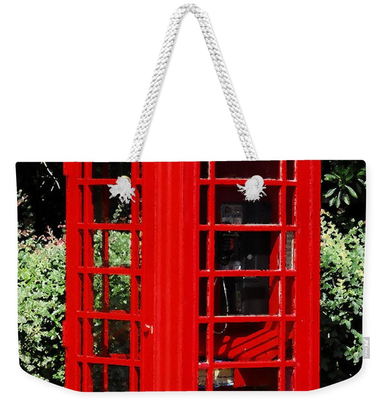 Phone Booth Weekender Tote Bag featuring the photograph Phone Booth by David Lee Thompson