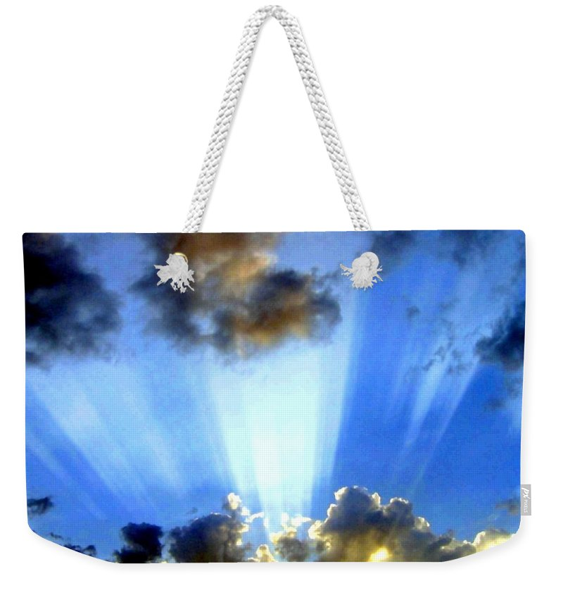Photo Drama Weekender Tote Bag featuring the digital art Photo Drama by Will Borden