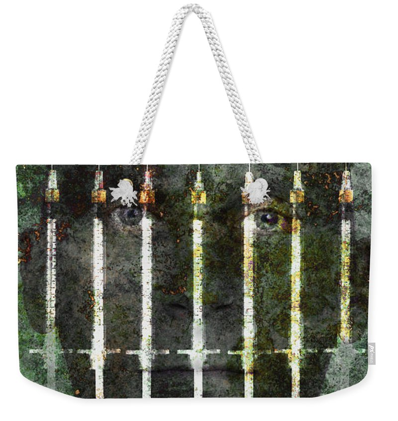Science Weekender Tote Bag featuring the photograph Photo Illustration Depicting Drug by George Mattei
