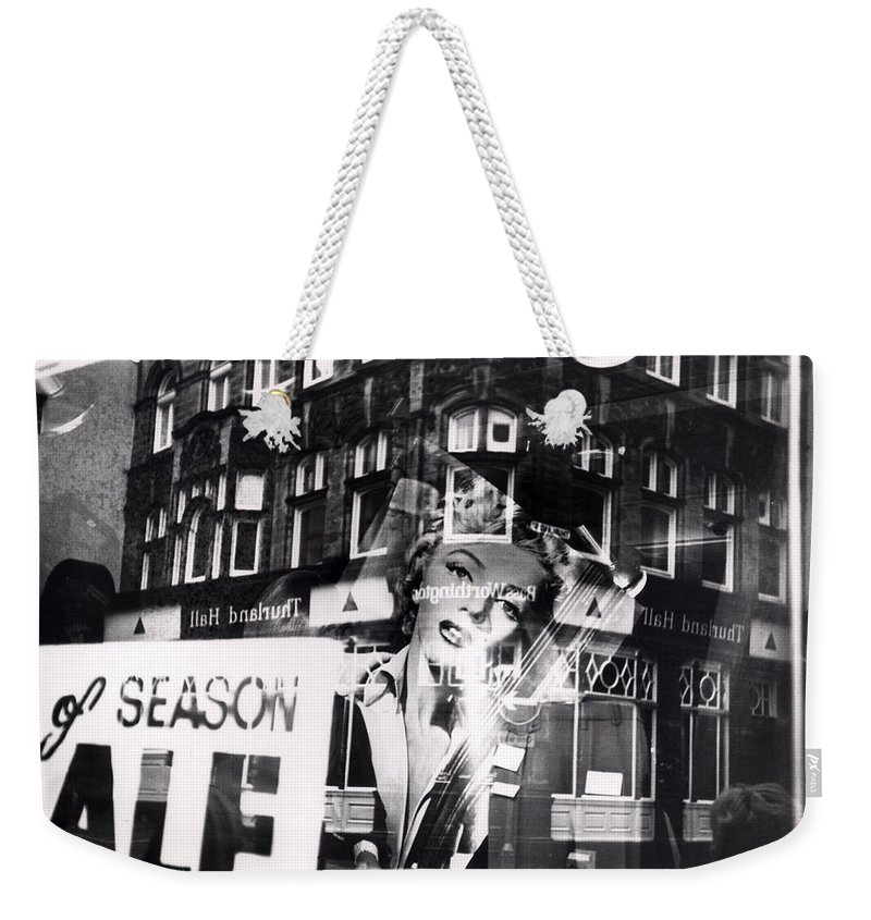 Marilyn Weekender Tote Bag featuring the photograph Photograph Of Marilyn by Charles Stuart