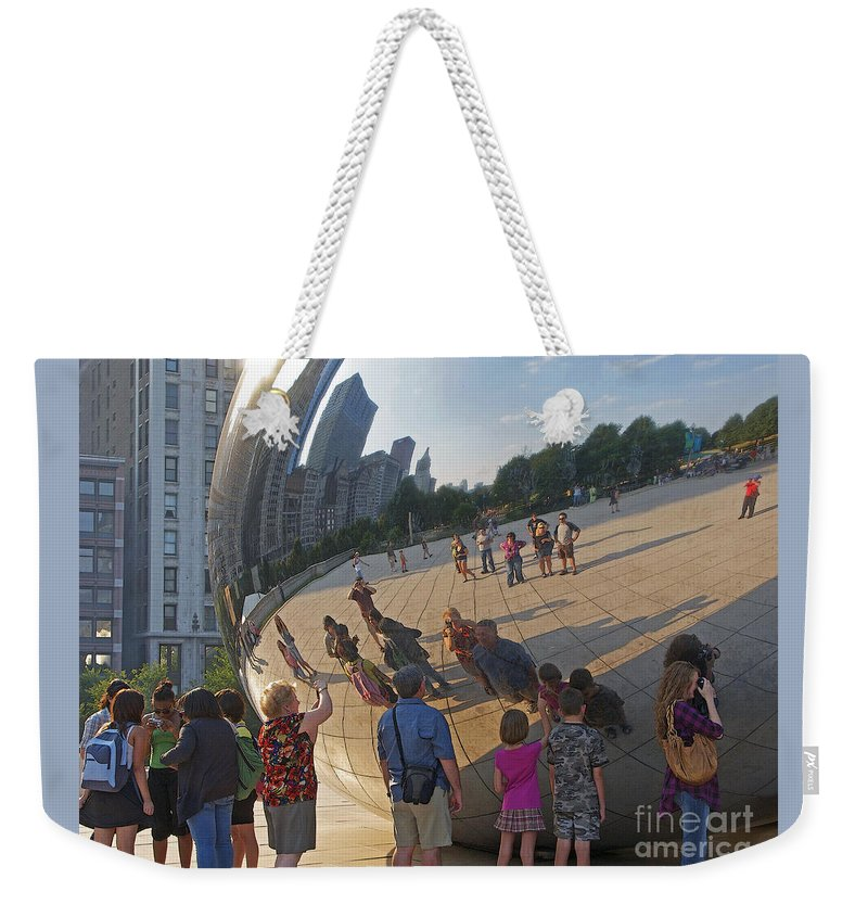 Chicago Weekender Tote Bag featuring the photograph Photographers All by Ann Horn