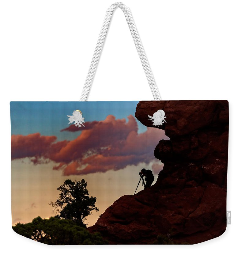 Photographer Weekender Tote Bag featuring the photograph Photographing The Landscape by Rick Berk
