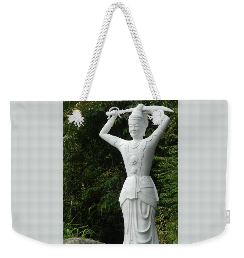 Phu My Weekender Tote Bag featuring the photograph Phu My Statues 3 by Ron Kandt