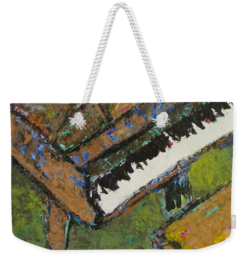 Piano Weekender Tote Bag featuring the painting Piano Close Up 1 by Anita Burgermeister
