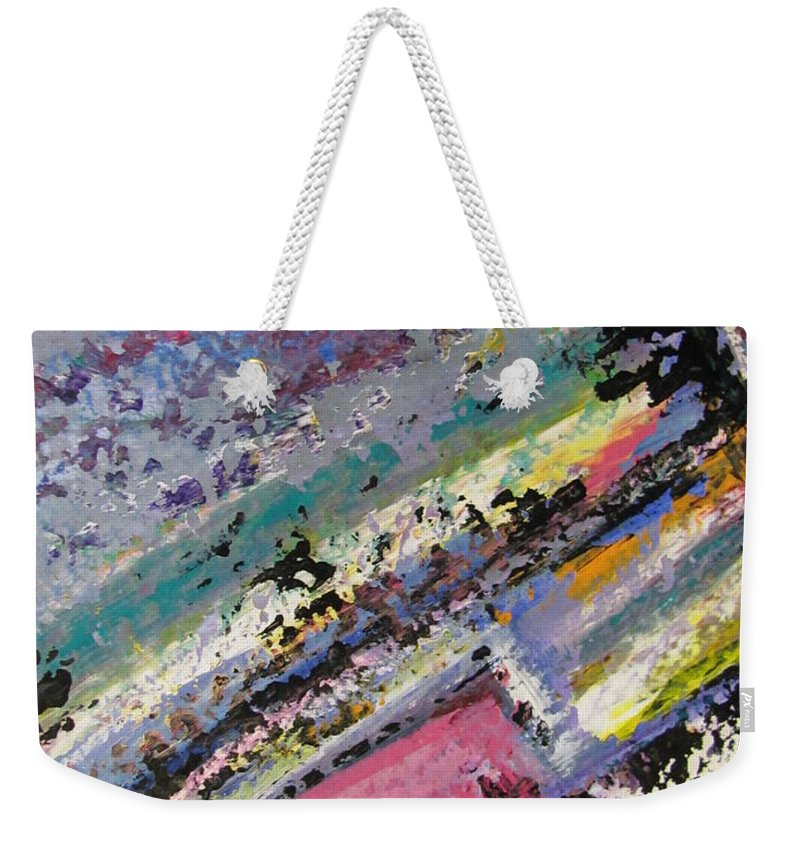 Piano Weekender Tote Bag featuring the painting Piano Close Up 2 by Anita Burgermeister