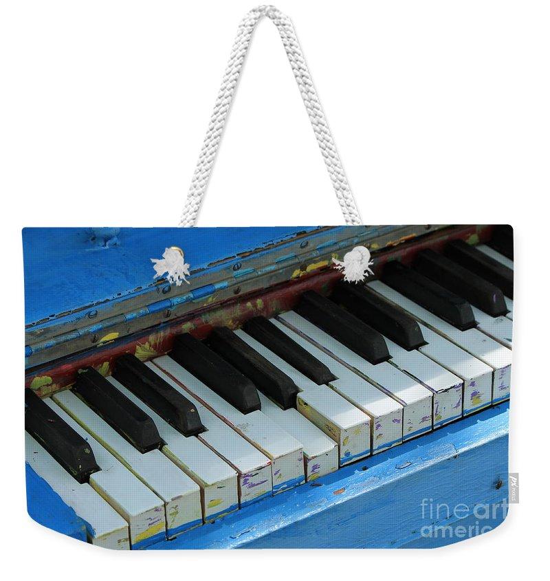 Piano Weekender Tote Bag featuring the photograph Piano Keys by Teresa Thomas