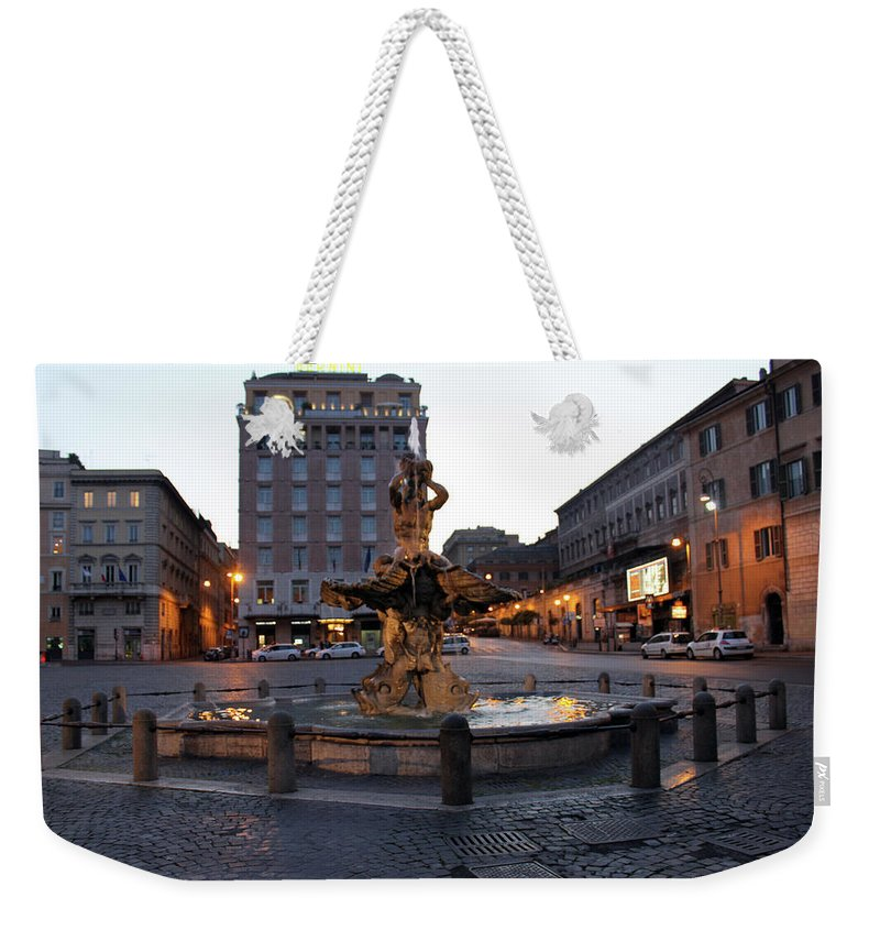 Piazza Weekender Tote Bag featuring the photograph Piazza At Night by Munir Alawi