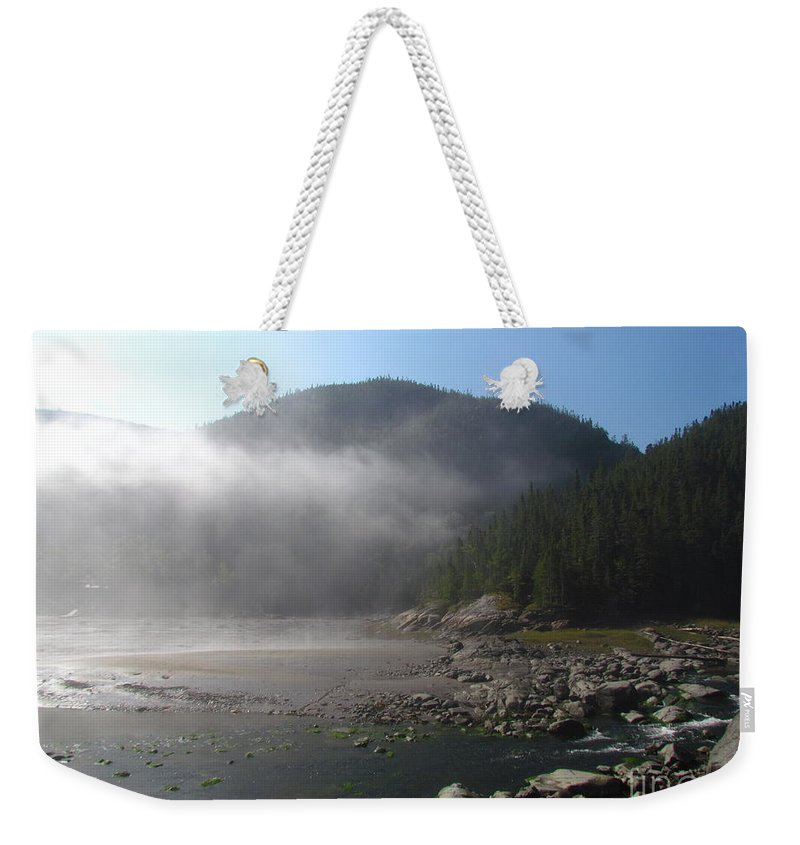 Baie-des-rochers Weekender Tote Bag featuring the photograph Baie-des-rochers 2, Quebec by Donica Abbinett